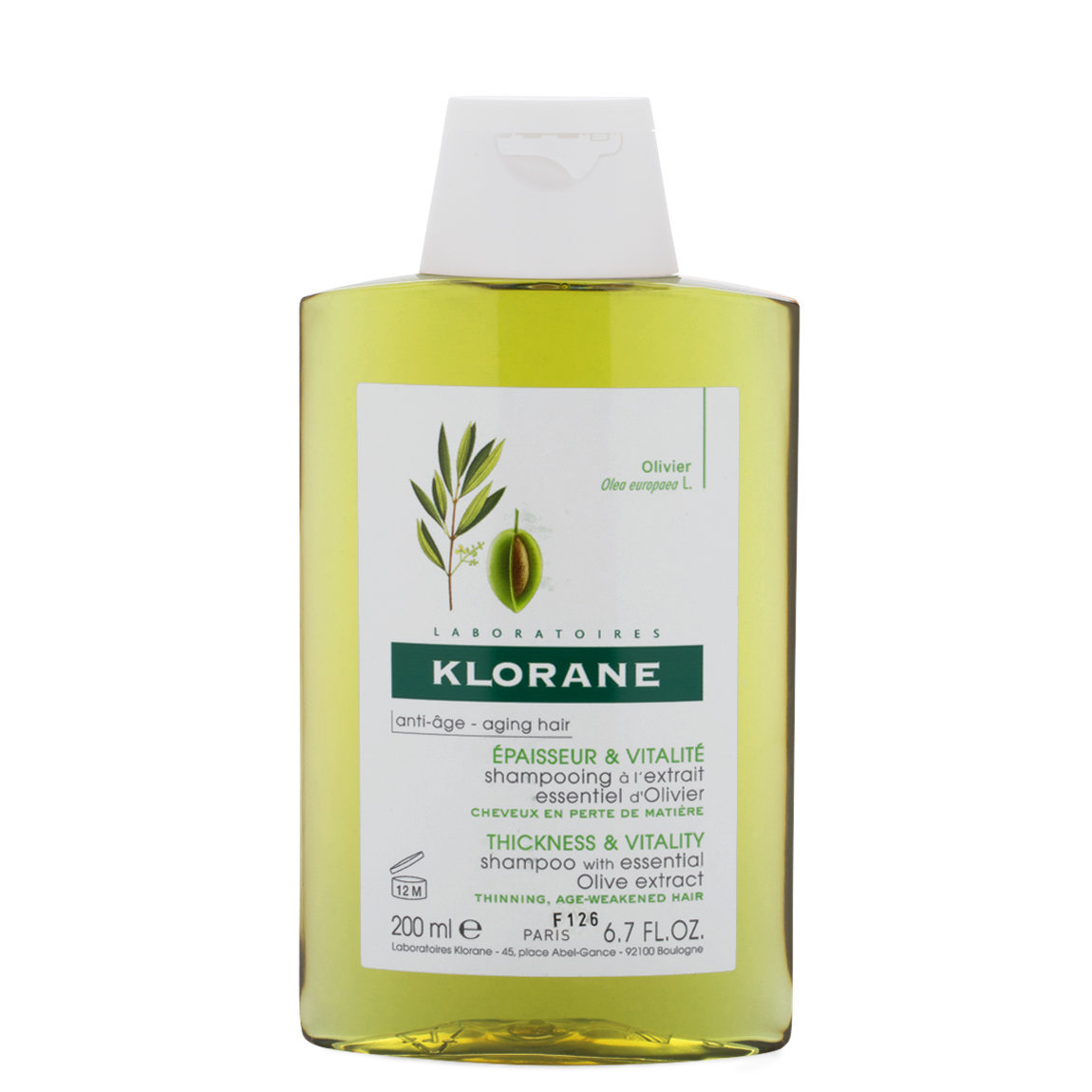 Klorane Shampoo with Essential Olive Extract 6.7 oz alternative view 1 - product swatch.