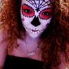 Halloween look. (Skull)
