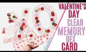 Clear memory dex card, DAY 12 of 14 Days of Crafty Valentines Day