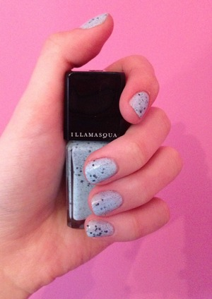 My nails are painted with Illamasqua fragile nail polish.   Review coming soon to www.ambermcniff.blogspot.co.uk