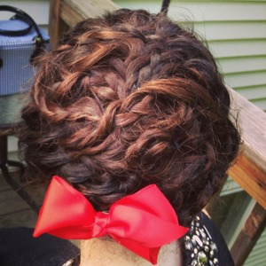 Updo i did on a friend for prom!
