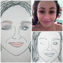 Custom Face Charts: Courtney