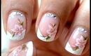 Water decals + French Manicure ! Easy Nail Art Designs How To With Nail Design