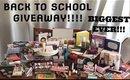BACK TO SCHOOL MEGA MAKEUP/ SCHOOL SUPPLIES GIVEAWAY!