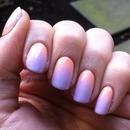 Peach And Lavender Pastel Gradient