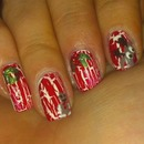 Red Crackle Christmas