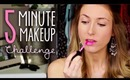 5 Minute Makeup Challenge || Drugstore Edition!