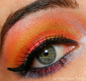 A fun look with BFTE Cosmetics and Lit Glitter.