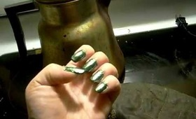 """Pixie Polish """"Scarab""""- a beetle or Oz on every finger!"""