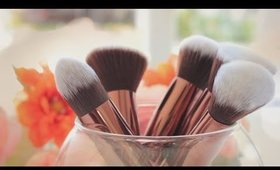 Luxie Lush Rose Gold Kabuki Brush Set Review + Demo