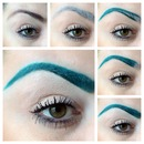 Black brows to teal brows!