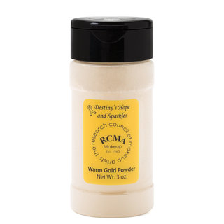 "RCMA Makeup ""Destiny's Hope and Sparkles"" Warm Gold Powder"