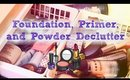 Decluterring my Makeup Part 2 | Foundation, Primer, and Powder | Declutter Series | Rosa Klochkov