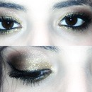 gold disco makeup
