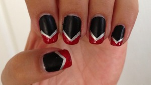 Went to support my son at his Cross Country meet with his high school colors. <3  Matte black, silver, and red.