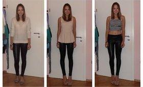 How I Style Leather Leggings | Fall / Autumn ♥  | Tumblr Inspired