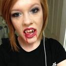 evening vampire makeup