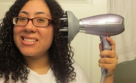 Updated After wash Curly Hair Routine with John Freida  Hair Dryer