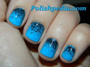 These black glitter nails were really easy to do and super cute!  The glitter came from a local craft store. :)  http://polishpedia.com/black-glitter-nails.html