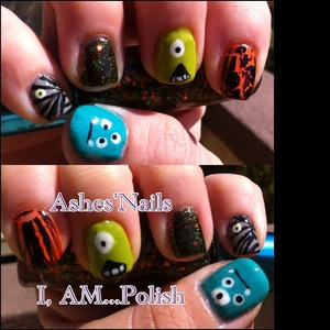 I was inspired by a work event today and by many pics on the interweb. Follow me @IG @ashes_jaded4nails