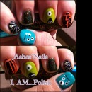Monster/Halloween nail art