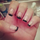 Black and gold tips