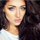 Brown eyes and natural lips