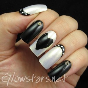 Read the blog post at http://glowstars.net/lacquer-obsession/2015/02/monochrome-hearts-and-studs/
