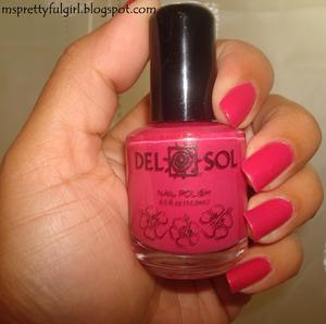 Del Sol Nail Polish in Girls Night Out http://msprettyfulgirl.blogspot.com/2011/10/pink-wednesday-october-12-2011.html