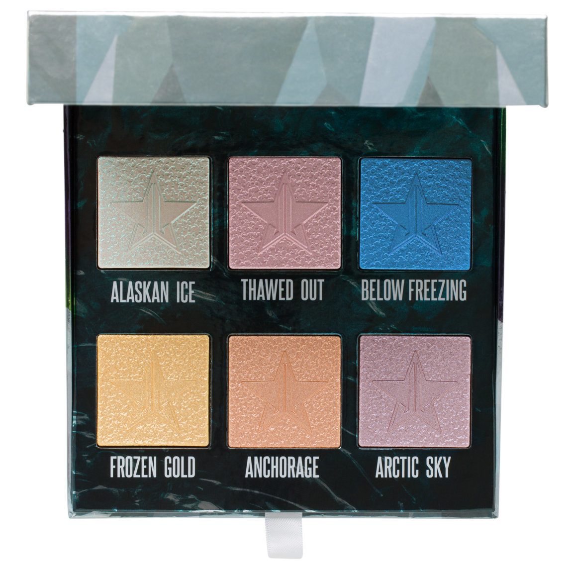 Jeffree Star Cosmetics Northern Lights Palette product smear.