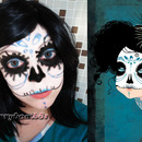Halloween Makeup Look Cute Skull Blue