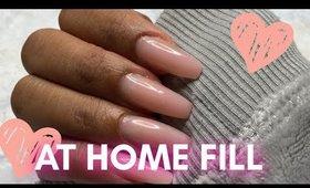 DIY GEL FILL | professional looking nails using #PolyGel | @leiydbeauty