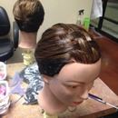 Basket weave braid up do