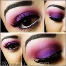 Bright Pink/Plum and Neon Purple