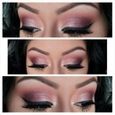 Burgundy Smokey Eye.