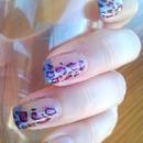 Half Leopard Nail Art