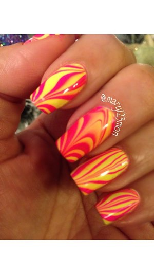 Watermarble using pipedream Polish
