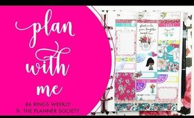 Plan With Me | Weekly B6 Rings • ft. The Planner Society | Bliss & Faith Paperie