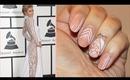 Paris Hilton Grammy's 2014 Lace Nails