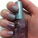 Gray and glitter.