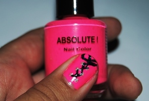 Neon Pink Lace Nails