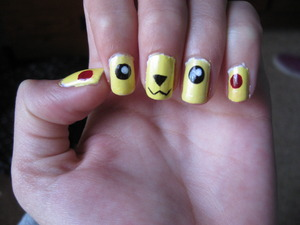 Pikachu Nails Tutorial: Pokemon: Pikachu Nails Design - by cutepolish on  Youtube