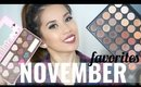 November Favorites ❤ 2015 | Too Faced, Cinema Secrets, Maybelline, Sony 50mm Lens !