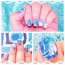 Nail art inspired by waves