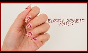 Bloody Zombie Nails ● Halloween Nail Art