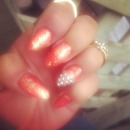 My stiletto nails I did at home