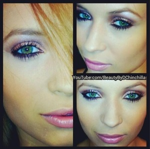 Green eyes pop with this coppery metallic look paired with a dark outline on the bottom lash!!