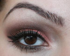 A brown/orange look, loved this look :D