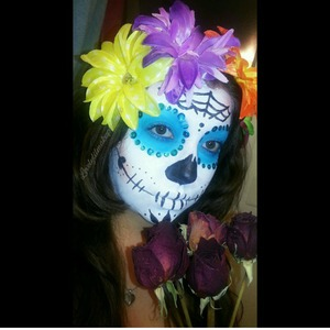 First of many sugar skull looks to do. follow me on Instagram for more pictures and details. @lovelylilmakupaddict