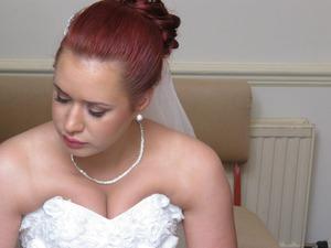 I've done my own wedding make-up. Very subtle.